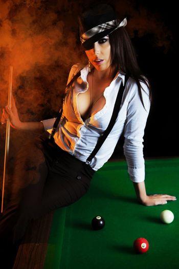 Pooltable Sexygirl Model Smoke Hat EyeEm Gallery EyeEm
