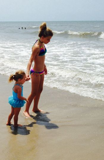Grandaughters are gifts from God. Enjoying Life Beach Relaxing Taking Photos Better Together