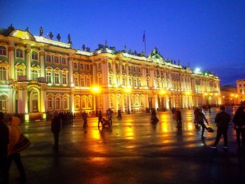 Питер площадь Building Exterior Built Structure Architecture Illuminated Large Group Of People Famous Place Travel Destinations City Life Tourism City Travel Dusk National Landmark Clear Sky History Night Façade In Front Of Culture Town Square