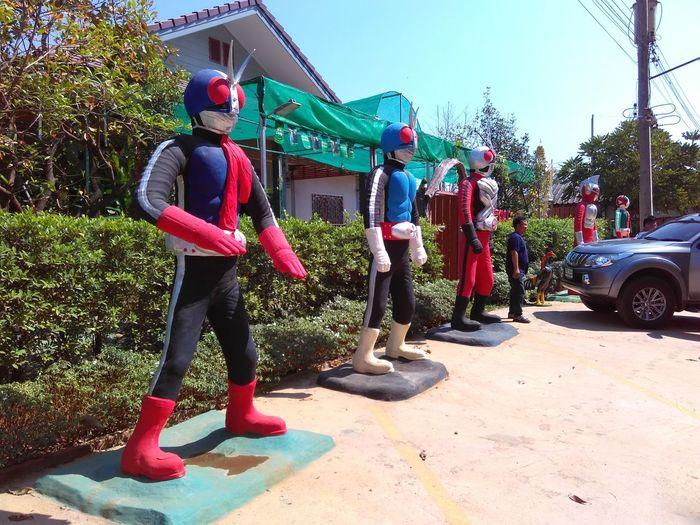 Day Sky Mask - Disguise Theme Restaurant Figerine Masked Rider