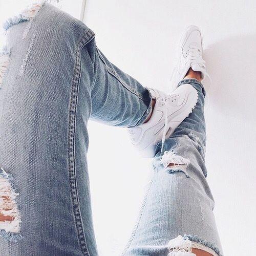 Jean Nike Bue White