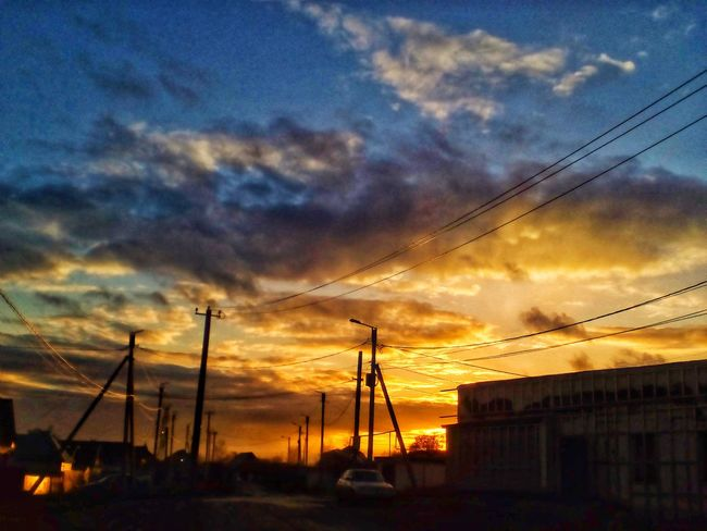 Sunset Sky Power Supply Outdoors Electricity Pylon No People Power Line  Fuel And Power Generation Beauty In Nature Silhouette Nature Low Angle View Electricity  Cloud - Sky Cable Dramatic Sky Built Structure Scenics Technology Telephone Line Hg EyeEmNewHere EyeEm Ready