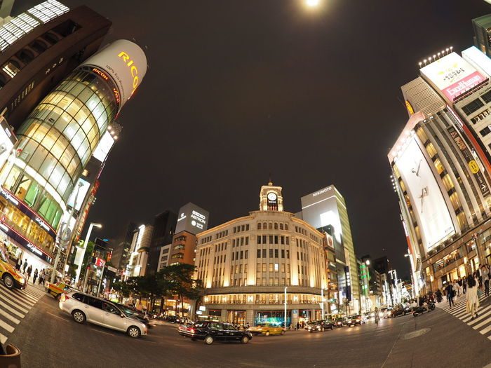 Night Illuminated City Architecture Cityscape Nightlife Neon Famous Ginza Taking Photos Taking Pictures Olympus Streetview Nightphotography Japan Japan Photography Streetphotography Tokyo Night 銀座和光 銀座通り 三越 From My Point Of View Snap