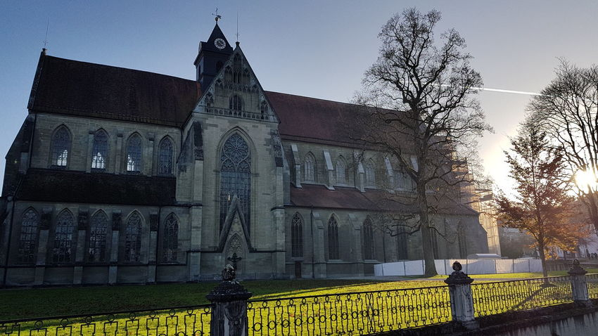 Architecture Day Outdoors No People Rural Scene Autumn Sunset Nature Landscape Church Buildings Church Architecture Church Münsterkirche