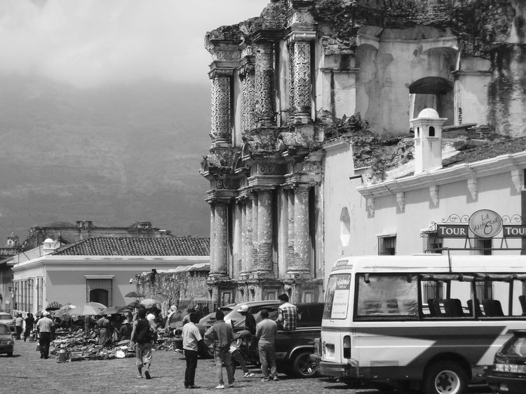 Antigua Guatemala Architecture B&w Street Photography Central America Column Guatemala Old Old Ruin