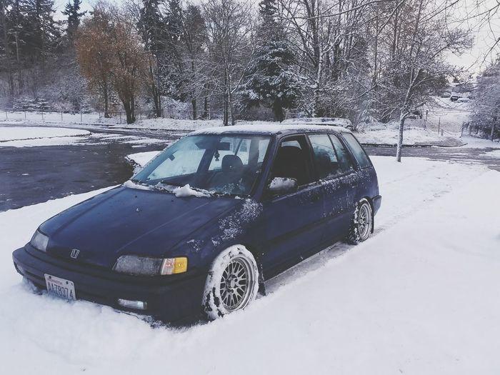 Wagon  EF Honda Snow