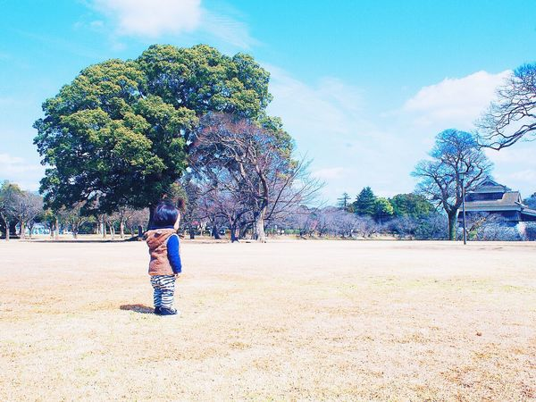 Looking Into The Future We Are Family Littleboy Castle Japan My Kids Littledarling Sweet Child Tree Hello World