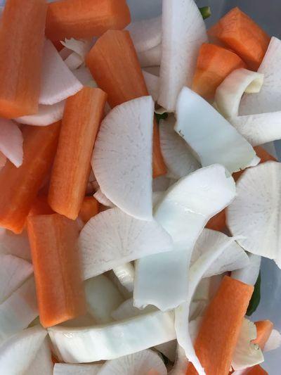 Full frame shot of chopped fruits