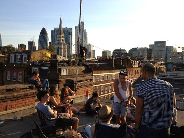 London London City City Of London Gherkin City Rooftop Shoreditch Brick Lane Friends Friendship Chill Chilling Beer Summer Sunny Sun Warm Smooth View 360 Original Experiences Postcode Postcards