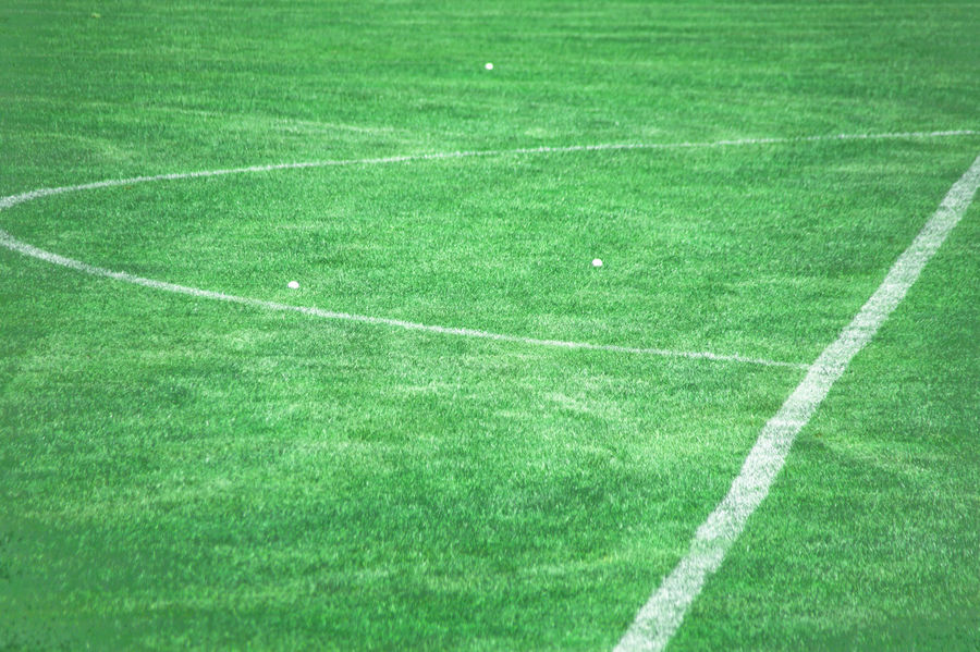 Connected By Travel Lost In The Landscape American Football Field Backgrounds Competitive Sport Day Grass Green Color Nature No People Outdoors Playing Field Soccer Soccer Field Sport Sportplatz