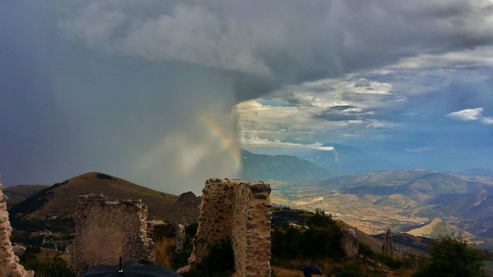 A Bird's Eye View Color Palette Colour Palette Eyemphoto Wheather Sky Whethered Sky Wheather Reflaction Clouds And Sky Variation Clouds Tempesta Uragano Stormy Weather Abruzzo - Italy Rocca Calascio Italy Visit Italy Castle Castle Ruin The Magic Mission Ice Age