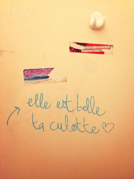 Toilette Art Culottes Tag Grafiti Art Street Art/Graffiti French