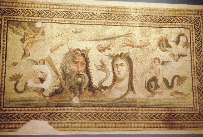 Zeugma museum Gaziantep poseidon Mosaik