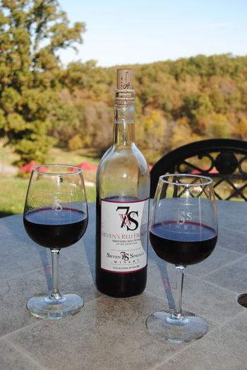 Fall Fine Dining Local Winery Missouri Missouri Wine Red Wine Wine Glasses Winery Winery View Glass Half Full