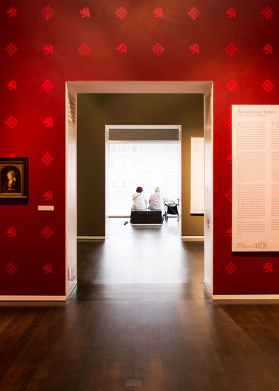 Sometimes talking and looking out the window is more exciting than the art surrounding you. Adult Art Big Windows Cologne Day Doorway Hallway Indoors  Köln Ladies Museum Pattern People Red Wall Symmetrical Symmetry Window Windows