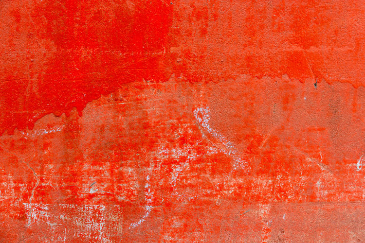 Old Red grunge cement texture with crack,use as a background Red Backgrounds Wall - Building Feature Full Frame Paint Textured  Abstract Built Structure Weathered Architecture No People Old Pattern Dirty Dirt Orange Color Copy Space Creativity Close-up Rough Textured Effect Concrete Abstract Backgrounds Surface Level