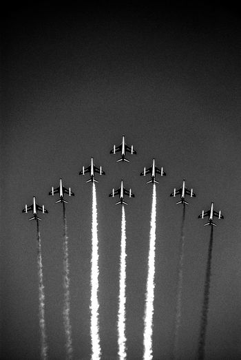 Aerial Acrobatics Aeroplane In The Sky Black And White Blanco Y Negro France French Air Force Fuerza Aerea Francesa Outdoors Speed Flying High Flying High Let's Go. Together.