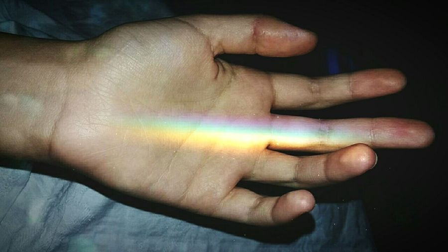Human Body Part Human Finger Human Hand One Person Indoors  Multi Colored Close-up People Only Women Human Hand One Person BeCreative Only Women Day Adult Adults Only Rainbow Powerful Hopes And Dreams Motivation Motivated