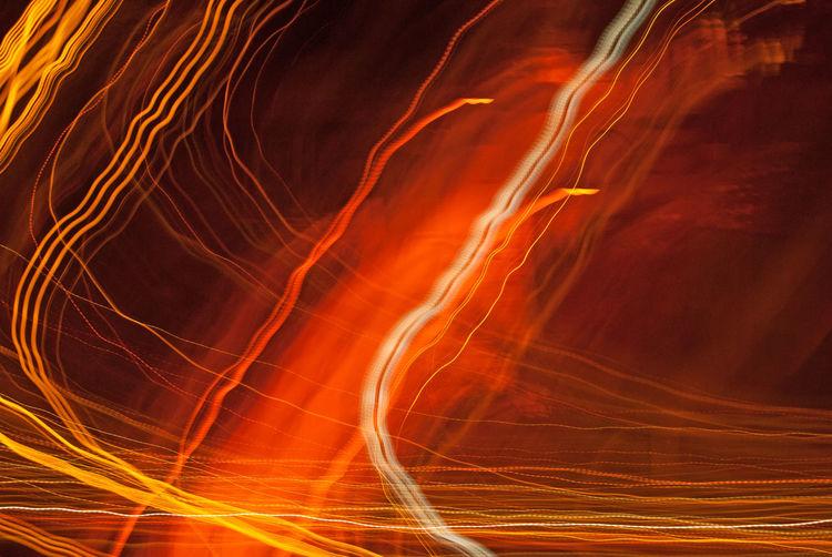 Full frame shot of light trails at night