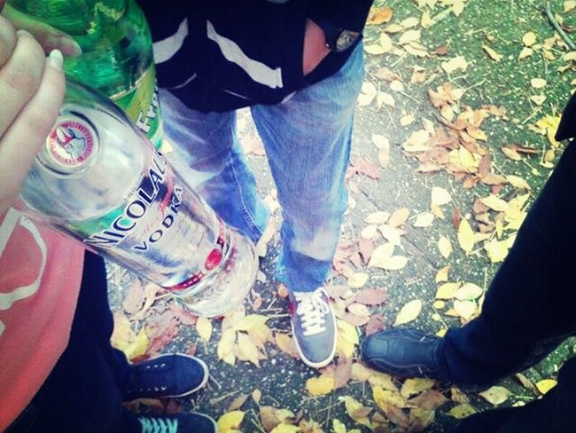 Drinking Vodka Drinking From The Bottle Withclassmates  Autumn