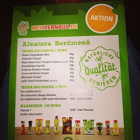 yeah 😉 ALNATURA special im @meinfernbus