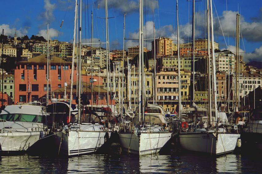 Genova Port Ship Sea