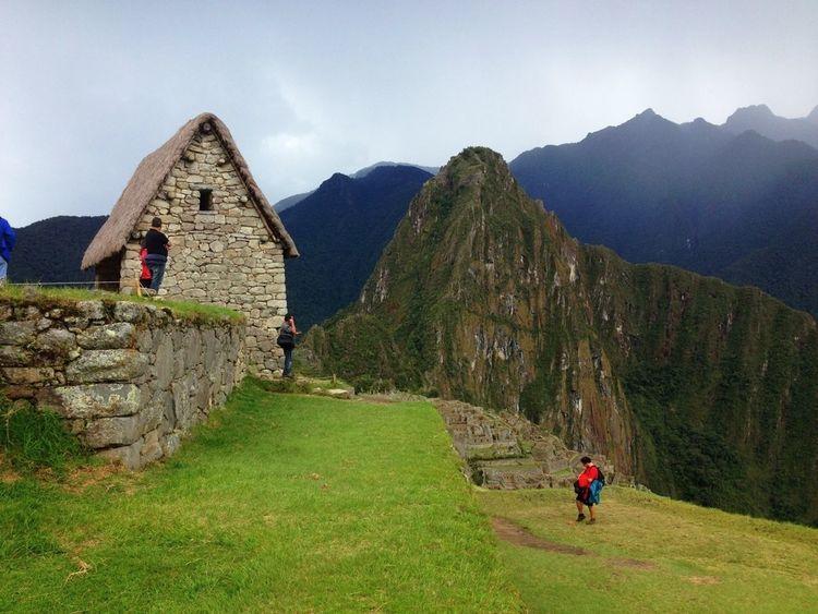 Walking Around Macchu Picchu Macchupicchu Peru