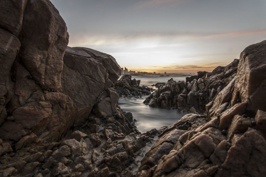 Rocking sunsets EyeEm Selects Rock - Object Outdoors Landscape Cloud - Sky No People Nature Winter Autumn Beauty In Nature Cold Temperature Sky Cliff Water Scenics Night Sunset Golden Hour Horizon Over Land Gold Colored Beauty In Nature Sunlight Nature Rock Pools Long Exposure
