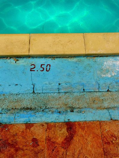 """""""Poolside, Cuba"""" Poolside Edge Of Pool Swimming Pool Pool Abstract Green, Blue And Brown Texture Evening Light Pool Outdoors No People Close-up Colour Bands Mark Rothko EyeEm Selects"""