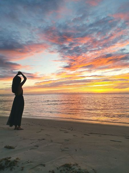 What more can I say? EyeEmNewHere Sunset Beach Sand One Person Sea Sky Nature One Woman Only Vacations Travel Destinations Saipan Sunset Sunsets Paradise Tranquility Tranquil Scene Stressfree Phone Photography Samsungphotography Lifestyles Islandliving Northern Mariana Islands
