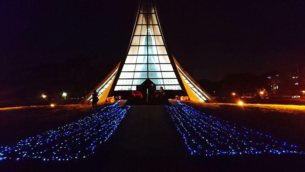 Night Chapel Light Architecture Tunghai University