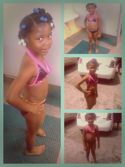 j'aunna yesterday at the pool Lil Sis Flickinn It Up:) Coolan :)