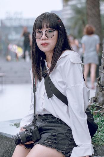 Camera City Glasses Thailand Cute Day Potrait Women
