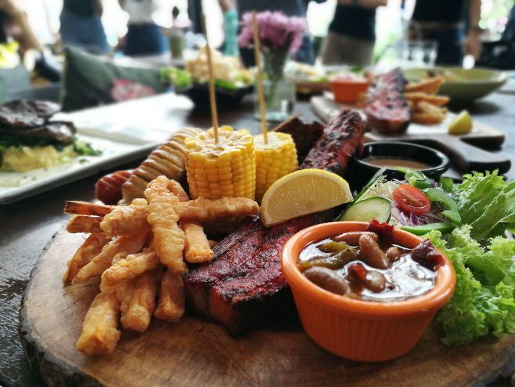 Western Food Close Up Mix Food Yummy Tasty Meat