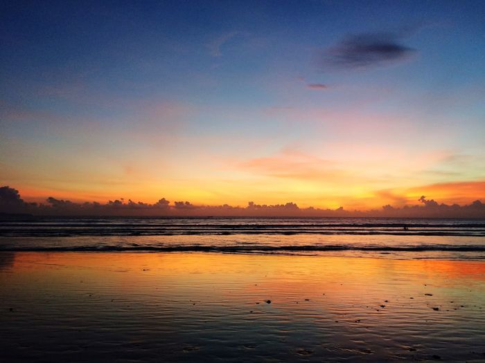 Sunset Sea Water Nature Beauty In Nature Tranquil Scene No People Beach Outdoors