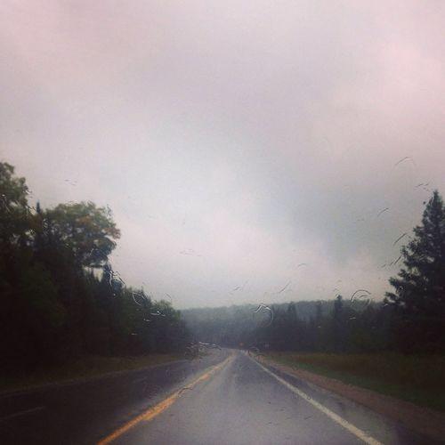 Rainy day in paradise. Rain Driving Nature Travel