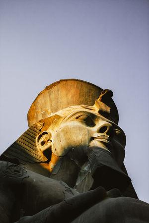 Pharahos Statue Ancient Civilization Day Egypt Human Representation Large Luxor,Egypt No People Pharahos Statue Pharaoh Religion Sculpture Statue