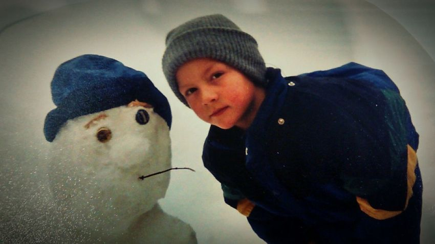Snowman Chillen!!! My Oldest Days That's Me Enjoying Life Winter Morning