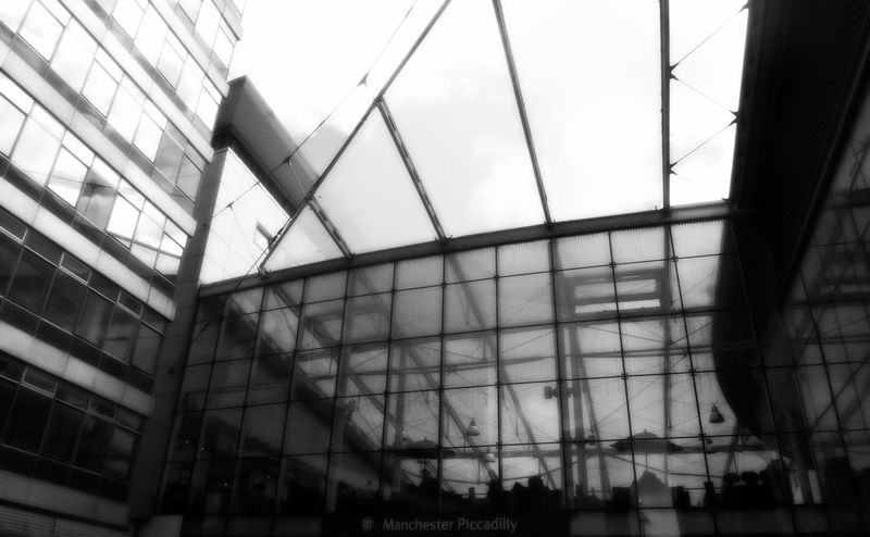 Art Architectural Feature Architecture Building Building Exterior Built Structure Ceiling City Day Glass Glass - Material Indoors  Low Angle View Modern No People Office Building Pattern Reflection Sky Transparent Window