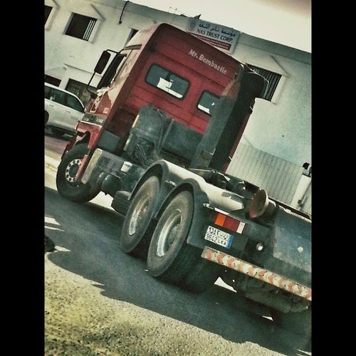 It was hard drving & taking this pic .. but woth it LOL Mr Bombastic Mrbombastic red truk