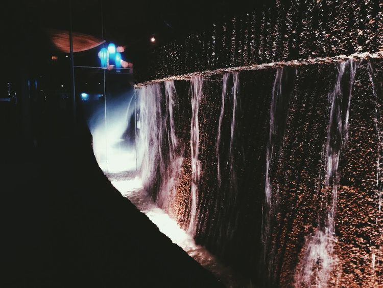 Long Exposure Winter No People Cold Temperature Outdoors Illuminated Architecture Night Nature Beauty In Nature Motion Water Restraunt Waterfall Landscape Dark Art Beautiful Magical Fancy Art Is Everywhere Picture Natural Blue Purple Sommergefühle Wine Not EyeEm Selects Let's Go. Together.