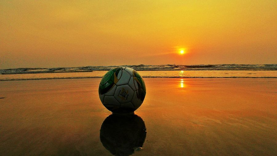 Beach Life Beach Photography Football Time  Football On The Beach Sunsetlover Sunset_captures Seascape Seashore Incredible India Enjoying Life Travelling Xperia Z2 Xperiamoments No People First Eyeem Photo Showcase: December Getting Inspired The Moment - 2015 EyeEm Awards