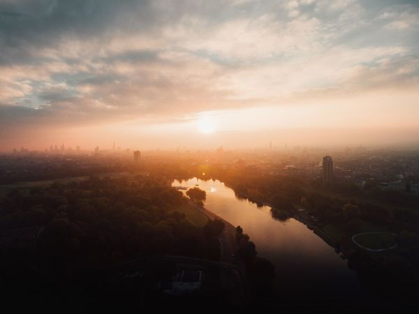 London Lifestyle   so lucky to call this city my home - Dronephotography Dji Aerial Photography London EyeEm Best Shots Sunset Sunset_collection Fine Art Photography Landscape_Collection