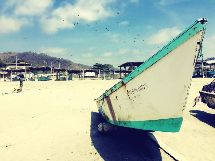 Travel Photography Ecuador Manabí Beach Sand Nautical Vessel Nature Travel Traveling Hello World Hanging Out Tour-thecity.com