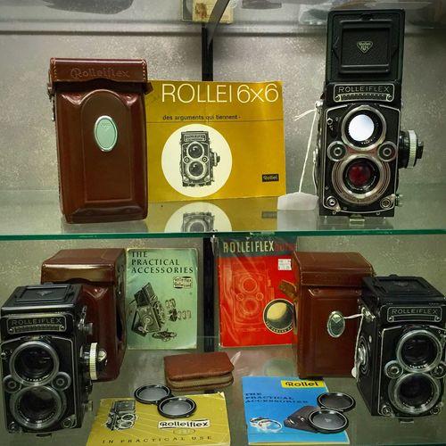 Vintage Rolleiflex TLR cameras