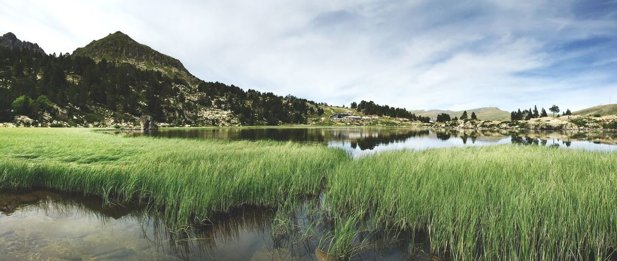 Idyllic Shot Of Lake By Mountain Against Sky