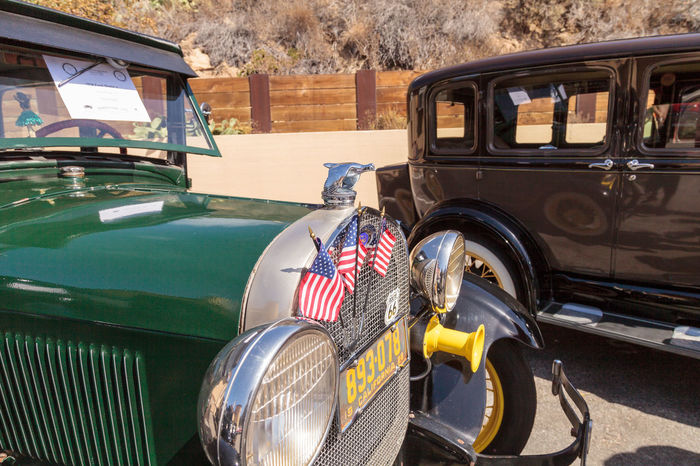 Laguna Beach, CA, USA - October 2, 2016: Green 1928 Ford Model A owned by Vince Piper and displayed at the Rotary Club of Laguna Beach 2016 Classic Car Show. Editorial use. 1928 Car Car Show Classic Car Classic Car Show Collector's Car Day Ford Ford Model A Laguna Beach No People Old Car Old-fashioned Outdoors Stationary Transportation Vintage Car