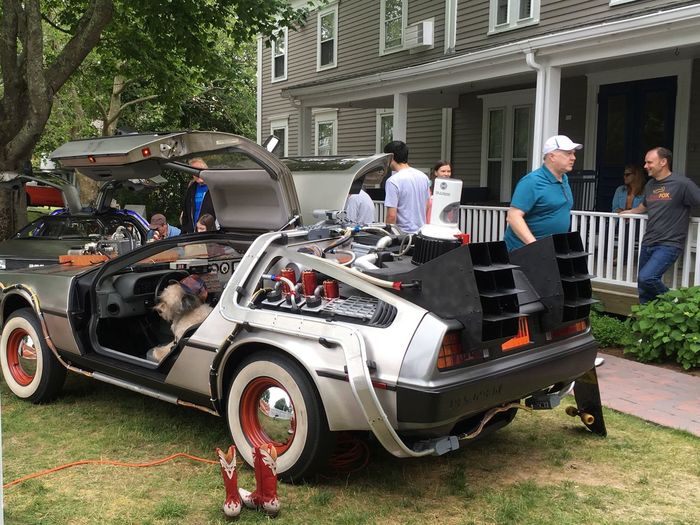 DeloreanDMC Back To The Future Great Scott! Where We're Going We Don't Need Roads Time Machine?! Teamfox