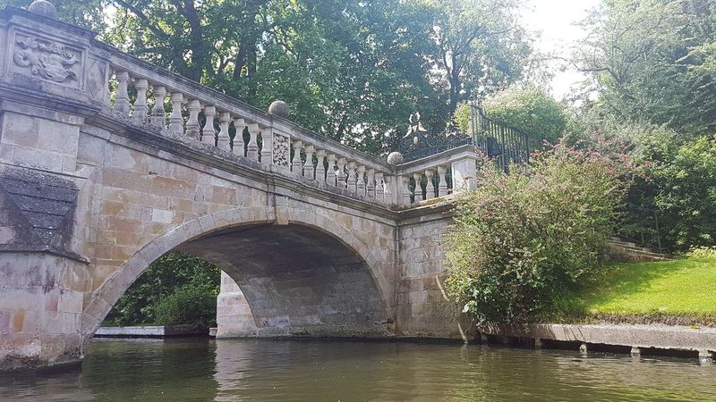 Bridge - Man Made Structure Architecture Built Structure Water Arch Outdoors Tree Day River No People Travel Destinations Building Exterior Sky Nature Blue Cambridge Cambridgeshire Clarecollege