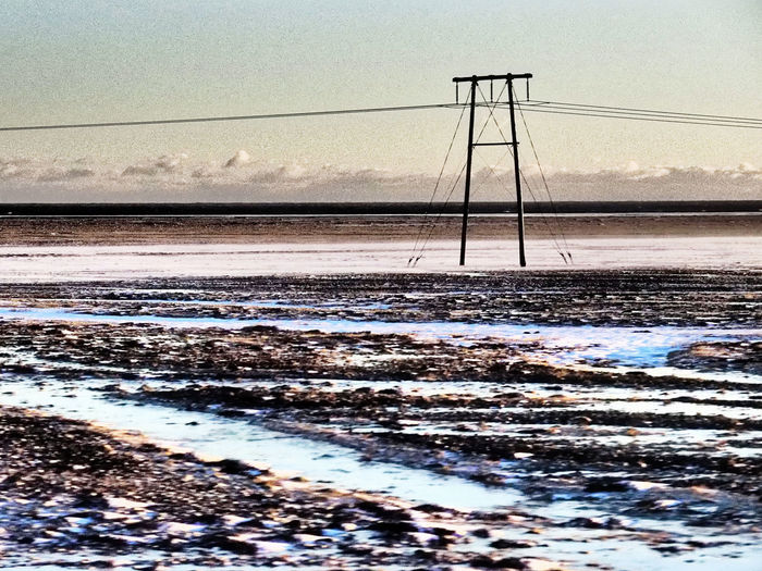 Iceland in Winter #emolandscapes Emptiness The Great Outdoors - 2018 EyeEm Awards Beauty In Nature Cable Hinterland Land Nature No People Outdoors Scenics - Nature Sky Tranquil Scene Tranquility
